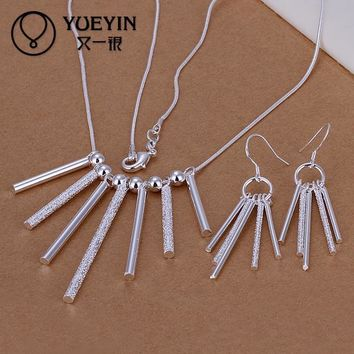 2016 new silver plated jewelry set for women wedding Bridal Jewelry S159 ekszerek I monili
