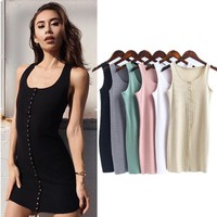 Summer Women's Fashion Slim One Piece Dress [10384148812]