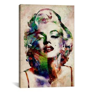 iCanvas Michael Thompsett Watercolor Marilyn Monroe Canvas Print Wall Art | Overstock.com Shopping - The Best Deals on Gallery Wrapped Canvas