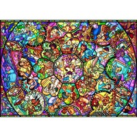 Disney All-Stars Stained Glass Jigsaw Puzzle - Puzzle Haven