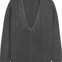 Brunello Cucinelli - Oversized chain-trimmed cashmere sweater