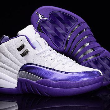Air Jordan 12 Retro Cool Purple White