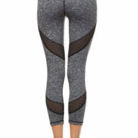 Grey Mesh Paneled Pants