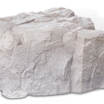 "Fake Rock Artificial Stone Septic Lid Cover (Fieldstone) (15""H x 32""W x 34""D)"