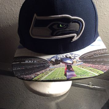 Seattle Seahawks Authentic New Era Snapback or Fitted Cap with 12th Man custom