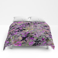 Camouflage Fluid Cell Abstract Comforters by Sheila Wenzel