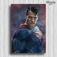 superman print superhero poster clark kent dc comics superman art
