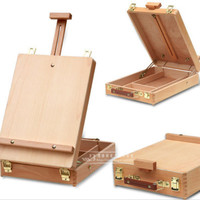 Easel Painting Hardware Fillet Canvas Easel Desktop Laptop Box Accessories Multifunctional Painting Suitcase Art Supplies For Artist