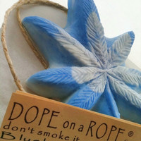 Dope on a Rope Soap - Blueberry Kush - Hemp Soap on a Rope - Best Soap Hippie Bohemian Fun Easter Birthday Gift