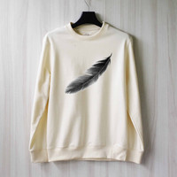 Feather Sweatshirt Sweater Shirt – Size XS S M L XL