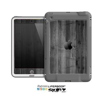 The Dark Black WoodGrain Skin for the Apple iPad Mini LifeProof Case
