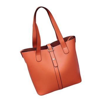Handbags Casual Tote Shoulder Bags Pu Leather Two Strap Lady Women Bag Solid Hasp Business Famous Brand 2015 Woman Bag