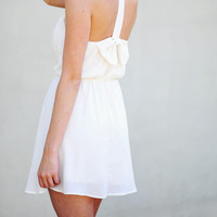 Tea For Two Bow Dress: Ivory | Hope's