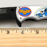 "Wonder Woman Limited Edition Spring Assisted Knife 4.5"" when closed"