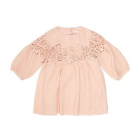 Chloé Lace Insert Crepe Dress Pink | Harrods