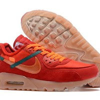 Off White X Nike Air Max 90 Running Shoes 40 46 | Best Deal Online