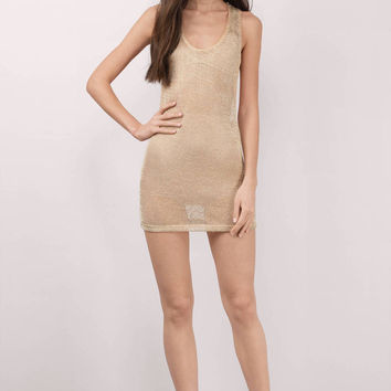 Jojo Metallic Mesh Bodycon Dress