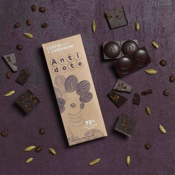 Antidote Chocolate - Kakia: Coffee + Cardamom 73% with slow roasted cacao