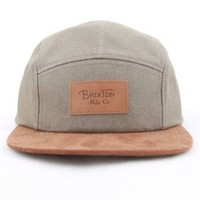 Brixton, Cavern 5 Panel Hat - Grey/Brown - Men's Wear - MOOSE Limited