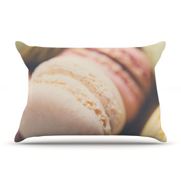 "Laura Evans ""Macaroon Goodness"" Pastel Food Pillow Sham"