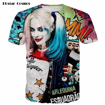 PLstar Cosmos Women Harley Quinn Deadpool T Shirt Anime Men Tee Shirt Homme 3d Camiseta Suicide Squad  Shirts  ClothingKawaii Pokemon go  AT_89_9