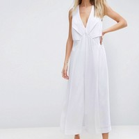 ASOS Jumpsuit with Origami Detail and Culotte Leg at asos.com