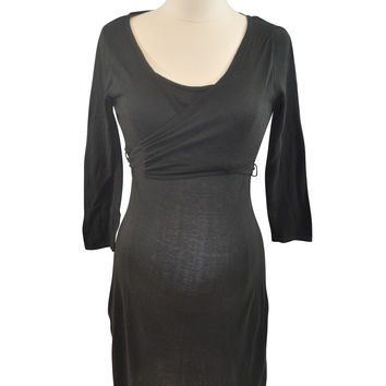 Black Elbow Sleeve Knit Dress by Mimi Maternity