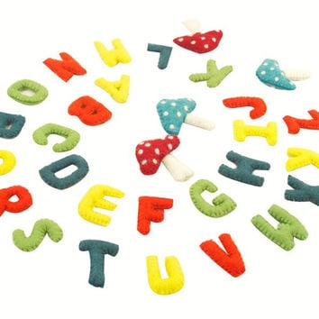 Colorful Felt Alphabet Wall Hanging - Fair Trade