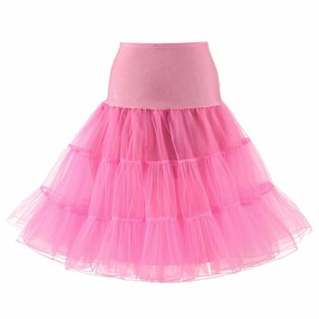 2018 A-Line Short Petticoat Colorful Short Underskirt Knee Length Bridal Tulle Petticoats For Wedding Dress Hot sale Petticoat