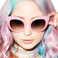 Crap Eyewear The Cotton Candy Diamond Brunch Sunglasses One