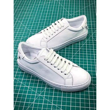 Givenchy Low Top Lace Up Triple White Sneakers-1