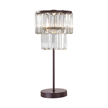 D3014 Antoinette 1 Light Table Lamp In Bronze - Free Shipping!