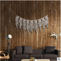 Pure hand-woven l-curtain tapestries home pendants Bohemian wedding decorative wall hangings decoration