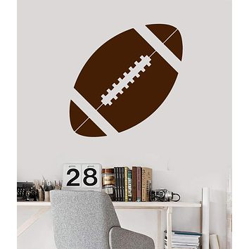 Vinyl Wall Decal Ball Football Player Sport Decor Mural Stickers Unique Gift (ig035)