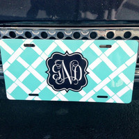 Car Tag / License Plate Personalized / Monogrammed Car Tag from SassySouthernGals Boutique
