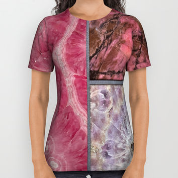 Gem Stone Decor All Over Print Shirt by Lena Owens/OLenaArt