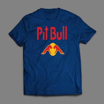 "ENERGY DRINK LOGO PARODY ""PIT BULL"" CUSTOM ART T-SHIRT"