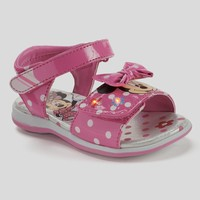 Disney's Minnie Mouse Toddler Girls' Light-Up Sandals (Pink)