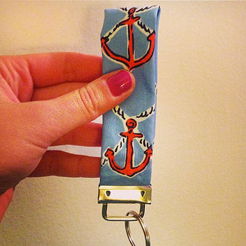 Key Chain Fob Lilly Pulitzer Anchors Away POP Tusk in Sun Just Add Mint Julip First Impression