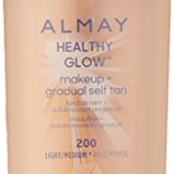 Almay Healthy Glow Makeup & Gradual Self Tan Foundation Makeup, Light/Medium, 1 Fluid Ounce