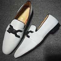 Cl Christian Louboutin Loafer Style #2381 Sneakers Fashion Shoes - Best Deal Online