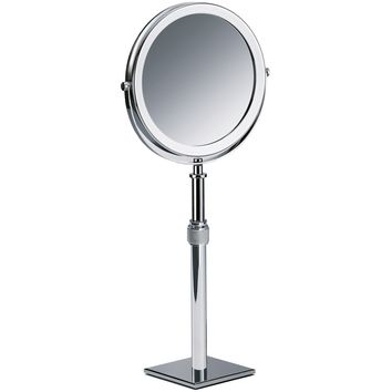 DWBA Table Height Adjustable Cosmetic Makeup 3x Magnifying  Mirror, Chrome