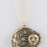 Sun Moon Stars Magnifier Necklace