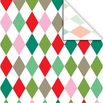 "Jillson & Roberts Printed Gift Tissue 20"" x 30"", Holiday Harlequin (240 Sheets)"