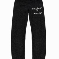 KIDS MORNING ALLERGY MALIBU SWEATS at Wildfox Couture in  PARTY GIRL, - CLEAN BLACK