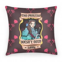This Princess Doesn't Need Saving Belle Pillow