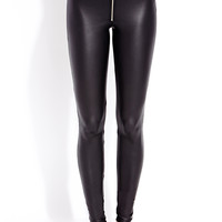 Edgy Faux Leather Leggings