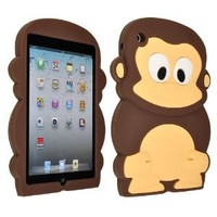 Coffee Monkey Silicone Soft Back Cover Skin Case for Apple iPad Mini