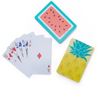 Pineapple & Watermelon Playing Cards