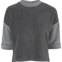 Colour Block Tee - Grey